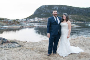 wedding couple in Salvage