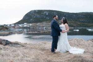 bride and groom in Salveg