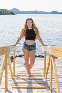 model on a dock