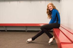 skater portrait in dressing room