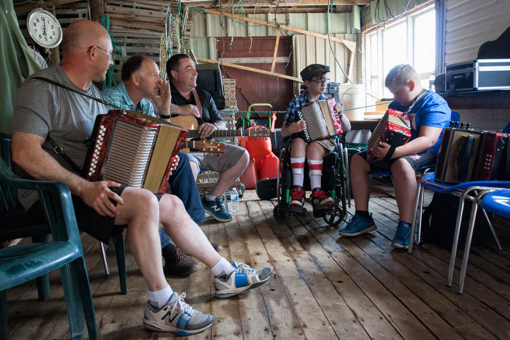 musicians at accordion festival